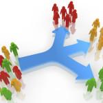 rendered customer segmentation concept
